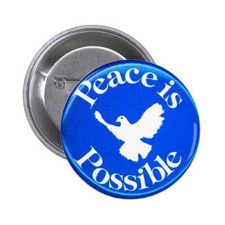 Frieden ist - Knopf möglich Runder Button 5,1 Cm