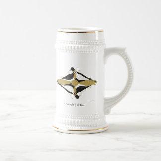 Frieden ist mit Ihnen! Bierglas