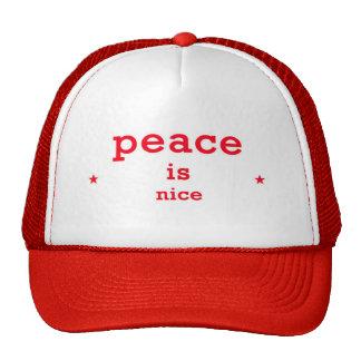 Frieden ist Nizza Fernlastfahrerhut Retromützen