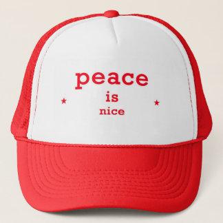 Frieden ist Nizza Fernlastfahrerhut Truckerkappe