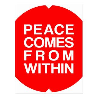 Frieden kommt aus postkarte