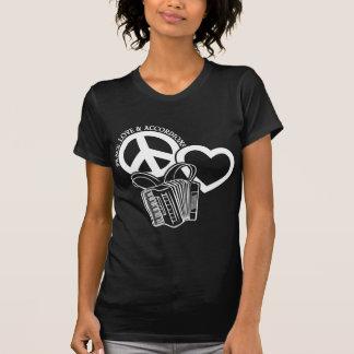 Frieden, Liebe, Akkordeons T-Shirt