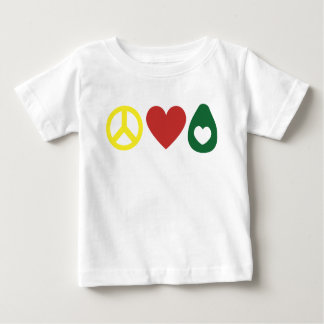 Frieden, Liebe, Avocado-Kleinkind-Shirt Baby T-shirt