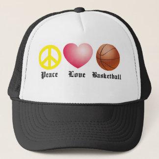 Frieden, Liebe, Basketball Truckerkappe