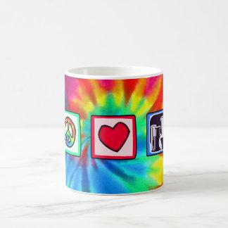 Frieden, Liebe, Chemie Kaffeetasse