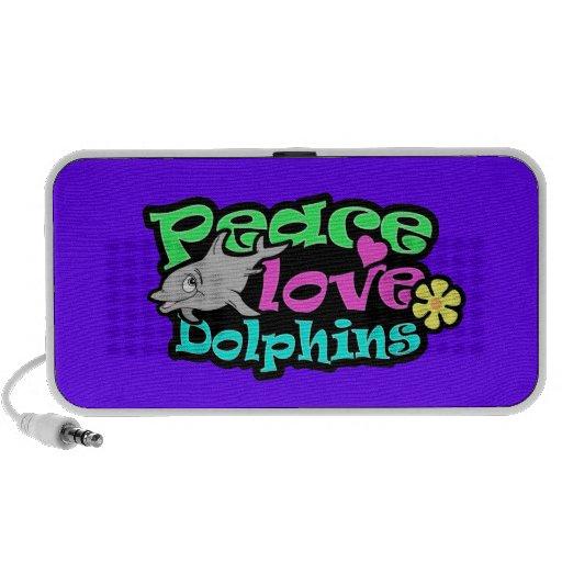 Frieden, Liebe, Delphine; Retro iPod Lautsprecher
