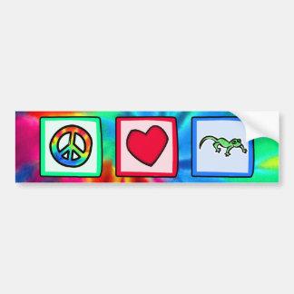 Frieden, Liebe, Eidechsen Autoaufkleber