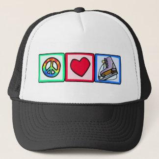 Frieden, Liebe, Eis-Skate Truckerkappe