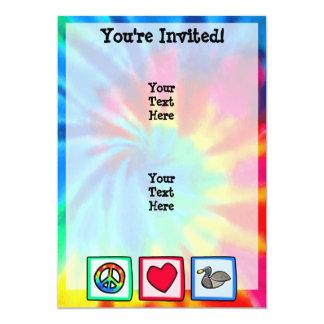 Frieden, Liebe, Enten 12,7 X 17,8 Cm Einladungskarte