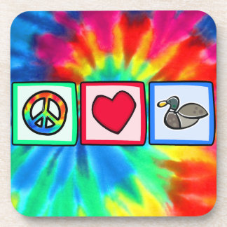 Frieden, Liebe, Enten Getränk Untersetzer