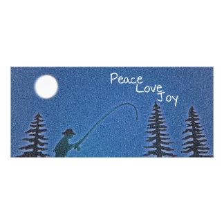 Frieden, Liebe, Freude/Fliegen-Fischer in den Werbekarte