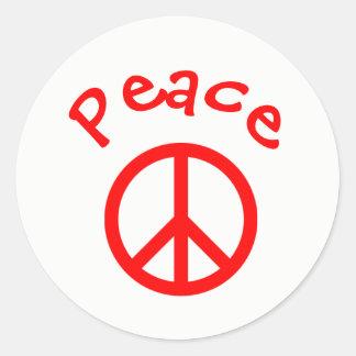 Frieden, Liebe, Freude-Friedenszeichen - Runder Aufkleber