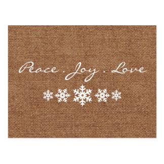 Frieden. Liebe. Freude - Postkarte