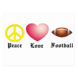 Frieden, Liebe, Fußball Postkarte
