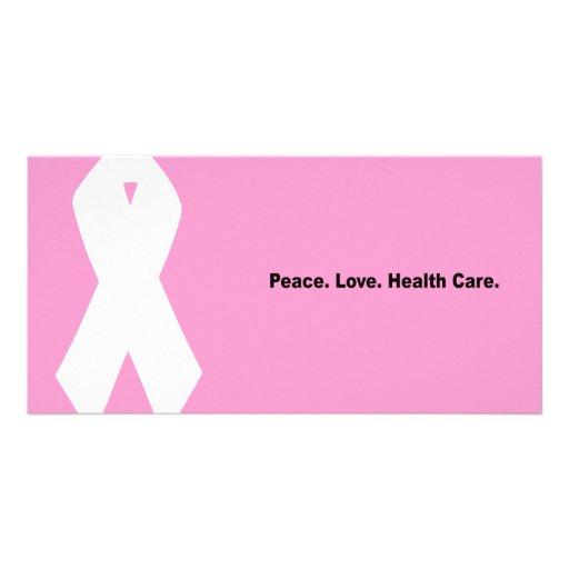 Frieden. Liebe. Gesundheitswesen Photo Grußkarte