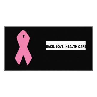 Frieden. Liebe. Gesundheitswesen. Schlagzeile Personalisierte Foto Karte