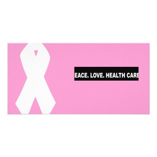 Frieden. Liebe. Gesundheitswesen. Schlagzeile Photo Grußkarte