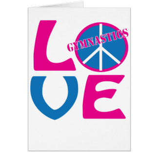 Frieden, Liebe, Gymnastik-Geschenke und Kleid Karte