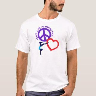 Frieden, Liebe, gymnastisch, multi T-Shirt