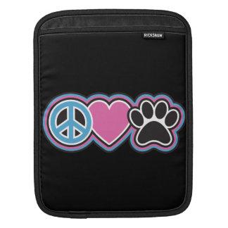 Frieden-Liebe-Haustiere iPad Sleeve