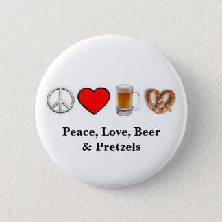 Frieden, Liebe… Knopf Runder Button 5,7 Cm