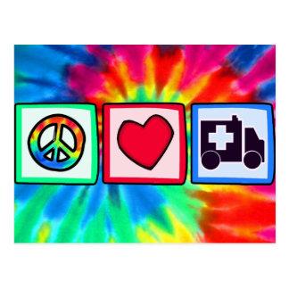 Frieden, Liebe, Krankenwagen Postkarte