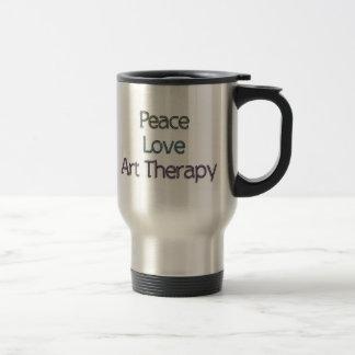 Frieden, Liebe, Kunst-Therapie Reisebecher