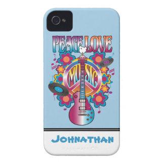 Frieden-Liebe-Musik Case-Mate iPhone 4 Hülle