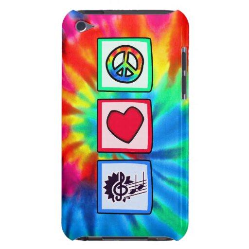 Frieden, Liebe, Musik Case-Mate iPod Touch Case
