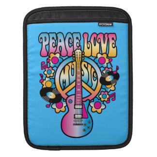 Frieden-Liebe-Musik iPad Sleeve