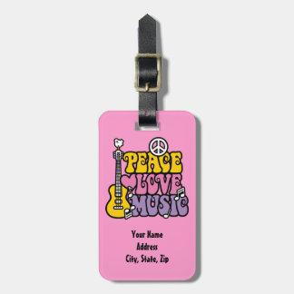 Frieden-Liebe-Musik Kofferanhänger