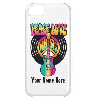 Frieden-Liebe-Musik-Vinyl iPhone 5C Hülle