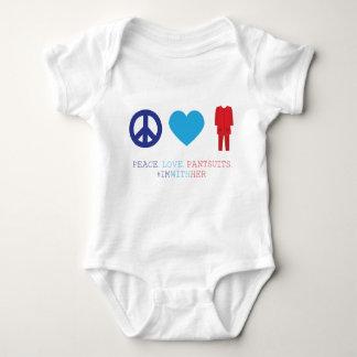 Frieden. Liebe. Pantsuits. Baby Strampler