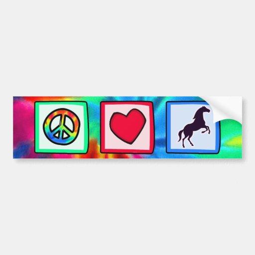 Frieden, Liebe, Pferde Auto Aufkleber