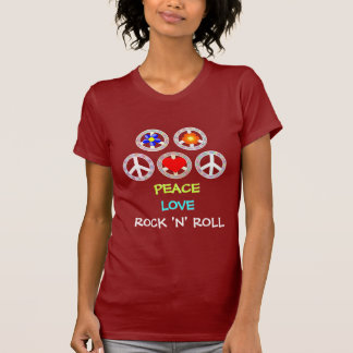 FRIEDEN, LIEBE, ROCK-AND-ROLL T-Shirt