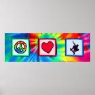 Frieden, Liebe, Skateboarding Poster