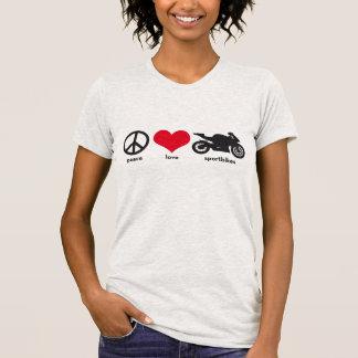 Frieden • Liebe • Sportbikes T-Shirt