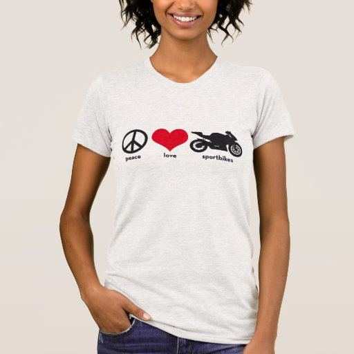 Frieden • Liebe • Sportbikes Shirt