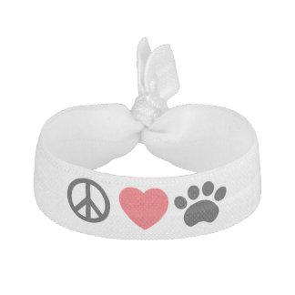 Frieden, Liebe, Tatzen-Haargummi-Armband Haargummi