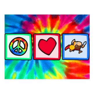 Frieden, Liebe, Trojan Postkarte