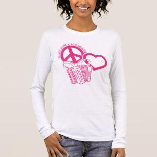 FRIEDEN, LIEBE U. AKKORDEONS LANGARM T-Shirt