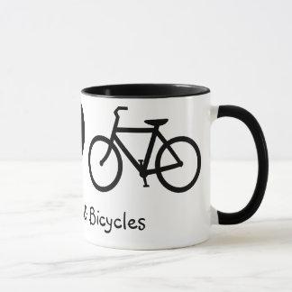 Frieden, Liebe u. Fahrrad-Tasse Tasse
