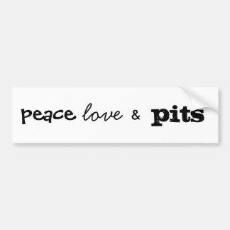 Frieden, Liebe u., Gruben Autoaufkleber