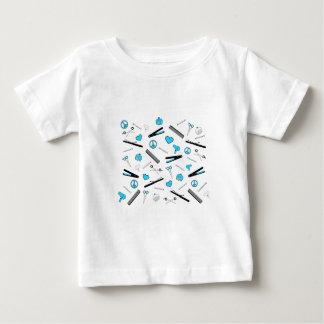Frieden, Liebe u. Haar-Zusätze (hellblau) Baby T-shirt