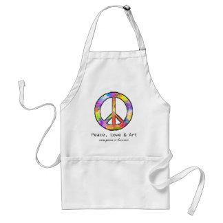 Frieden, Liebe u. Kunst-Schürze