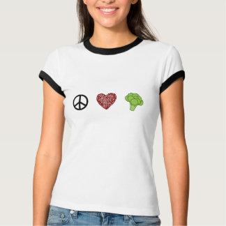 Frieden, Liebe und Brokkoli T-Shirt
