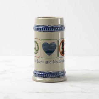 Frieden, Liebe und keine Schatten Bierglas