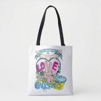 Frieden, Liebe und Musik-Taschen-Tasche Tasche