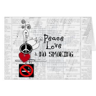 Frieden - Liebe und NICHTRAUCHER Karte
