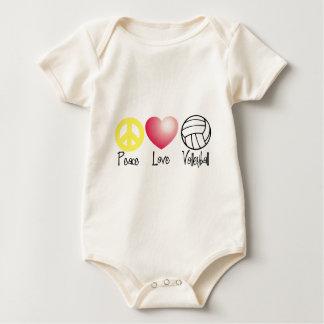 Frieden, Liebe und Volleyball Baby Strampler
